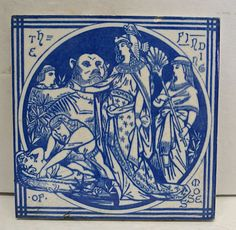 Mintons John Moyr Smith Old Testament Antique Tile The Finding of Moses | eBay