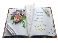 Gratulační kniha Book Folding, Paper Folding, Altered Bottles, Quilling, Paper Flowers, Tractor, Books, Crafts, Scrapbooking