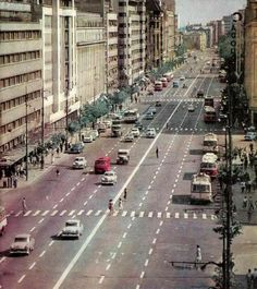 Bulevardul Magheru in Socialist State, Warsaw Pact, Central And Eastern Europe, Bucharest Romania, Old City, Timeline Photos, Old Pictures, Time Travel, Geography