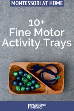 Fine Motor Activities via MontessoriMethods.com
