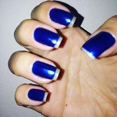 #blue #bluenails #nail #nails2inspire #nailsofinstagram #nailsoftheday #nailcolor #nailsdesign #beautiful #fashion #fashion by pireslayla