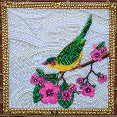 Bead Mosaic Mosaic Projects, Craft Projects, Craft Ideas, Bead Crafts, Arts And Crafts, Seed Bead Art, Beads Pictures, Mardi Gras Beads, Textile Fiber Art