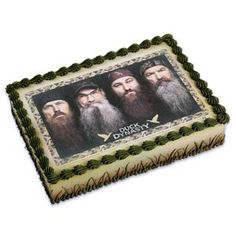 This Duck Dynasty edible cake topper is awesome.  It would be perfect for your celebration.   It features all of the popular show characters and can easily be applied to any home baked or store bought cake.  Please visit my page for more Duck Dynasty party ideas and supplies.
