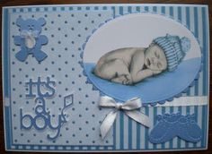 Check out this beautiful baby boy announcement made with #Cricut!