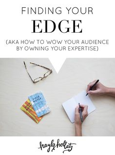 Finding Your Edge | Wow, this post by @kaylahollatz helped me to identify my niche and to finally create a cohesive brand. I followed her advice on how to define purpose for your blog and was able to increase my traffic. If you too want to grow your small business or if you're a freelancer this post is basic marketing knowledge every blogger should have!