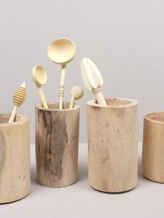 Moroccan Hand Crafted Wood Pots | Bohemia Design