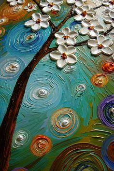 ORIGINAL abstracto moderno textura pintura primavera por Artcoast