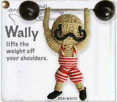 string doll weightlifter