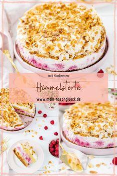 Heaven cake with raspberry recipe- Himmelstorte mit Himbeeren Rezept Simple recipe for a heavenly cake or Hansen-Jensen cake with raspberries and cream # raspberry cake # raspberry cake - Beef Pies, Mince Pies, Raspberry Recipes Easy, Hansen Jensen Torte, Pie Recipes, Baking Recipes, Cakes Originales, Red Wine Gravy, Flaky Pastry