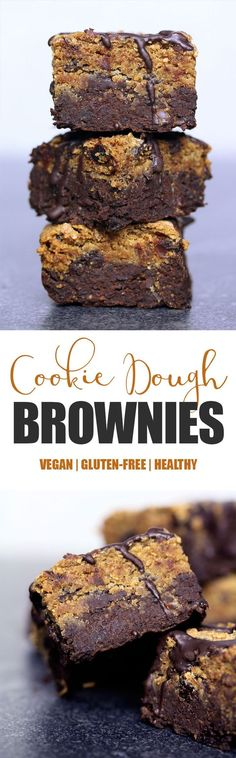 Cookie Dough Brownies Vegan, Gluten-free & Refined Sugar-free These are probably my favourite creation to date, not only because they taste absolutely delicious and decadent, they're also probably the healthiest treat I've made so far…