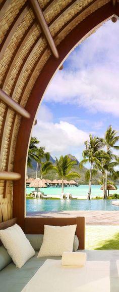 Bora Bora, French Polynesia.  Can't wait to go to Tahiti in September!!