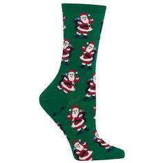 santa with presents socks forest womens - Christmas Socks For Men