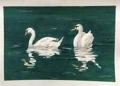 Swan Painting, Gouache Painting, Original Paintings, Original Art, Photorealism, Bird Art, Pet Birds, Paper Art, Saatchi Art