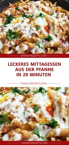 Leckeres Mittagessen aus der Pfanne in 20 Minuten 😍 😍 😍 Delicious lunch from the pan in 20 minutes 😍 😍 😍 Easy Smoothie Recipes, Lunch Recipes, Hidden Veggies, One Pot Pasta, Rice Krispie Treats, Rice Dishes, Easy Cooking, Food Videos, Food Porn