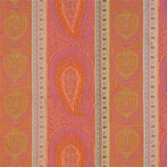 Taj Fabric by Anichini - Coral/Fuschia