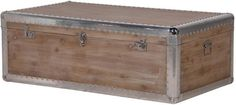 Alpine Chic Wood and Metal Coffee Table Trunk (Coffee table)