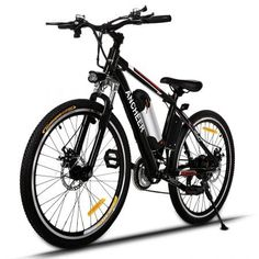 Ancheer Electric Mountain Bike with Removable Lithium-Ion Battery and Batte. - Ancheer Electric Mountain Bike with Removable Lithium-Ion Battery and Battery Charger - Electric Mountain Bike, Mountain Bicycle, Mountain Biking, Mountain Bike Reviews, Electric Cycle, Best Electric Bikes, Bike Electric, Commuter Bike