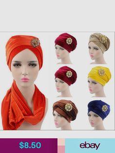 Hats Women Luxury Hijab Velvet Turban Head Wrap Long Tube Scarf Tie With Brooch India Tube Scarf, Turban Hat, Shawls And Wraps, New Woman, Modest Fashion, Head Wraps, Muslim, Velvet, Hats
