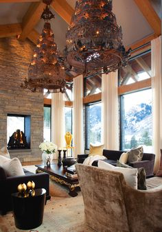 Aspen home - architecture by Robert G. Sinclair I  interior design by Petra Richards