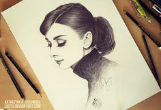 audrey_tribute. by Lady2 on deviantART   First pinned to Celebrity Art board here... http://www.pinterest.com/fairbanksgrafix/celebrity-art/ #Drawing #Art #CelebrityArt