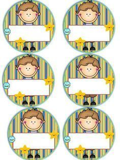 Badges for Kindergarten Children - Preschool Children Akctivitiys First Day Of School, Pre School, School Days, Sunday School, Preschool Art, Preschool Activities, Childhood Education, Kids Education, Kindergarten