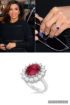 Much like Eva Longoria and Kate Middleton, many women are opting for colored gemstone engagement rings instead of the classic diamond ring. Love this trend? Click on the photo to shop this Ruby and Diamond Ring! #engagement #ring #diamond #ruby #rubyring #rubyanddiamond #rubyengagementring #celebrity #celebengagements #celebrityengagementrings #jewelry #allurez #love #bride #bridal #bridalinspiration #bridalinspo #wedding #beautiful #rings #engagementphoto #gemstone #gemstoneengagementring…