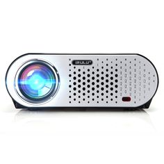HD Projector iRULU GP90 Video Projector 1280x800 Resolution Support 1080P Video Home Cinema Theater By HDMI USB VGA Powerful LED Source ±15° Keystone HiFi Speaker LCD Projector
