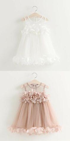 Toddler Party Dress Summer Wedding - White