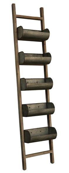 Ladder with Planter Boxes