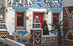 Ndebele House Painting, South Africa