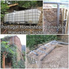 Portugal Homestead Rainwater Harvesting System Tour  - Off The Grid  Water System - Homesteading  - The Homestead Survival .Com