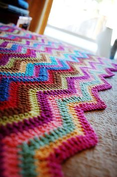 Ripple blanket by Silly as it sounds. Free pattern by  Coats & Clark here http://www.coatsandclark.com/cgi-bin/MsmGo.exe?grab_id=102&page_id=15598336&query=basic+ripple+pattern&hiword=BASICS+PATTER+PATTERNED+PATTERNING+PATTERNS+RIPPLES+RIPPLING+basic+pattern+ripple+