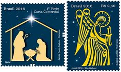 Brazil two stamps make up the edition alluding to Christmas 2016.