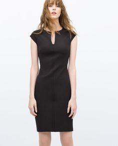 Tube Dress with Raglan Sleeves - Zara Vestidos Zara, Shift Dresses, Black Tube Dress, Midi Dress With Sleeves, Black Cocktail Dress, Zara Dresses, Summer Dresses For Women, Work Attire, Ss16