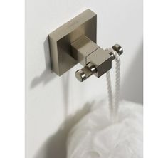 Haceka Mezzo Haak dubbel mat chroom - 1122807 - Sanitairwinkel.be Bathroom Hooks, Modern Design, Products, Accessories, Contemporary Design, Gadget