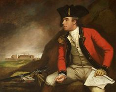 Captain Sir Thomas Hyde Page (1746–1821), FRS, with Townshend Depicted in the Background and Holding Plans for It in His Hand, by James Northcote, National Trust, Tyntesfield.
