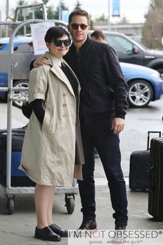 Exclusive... Ginnifer Goodwin & Josh Dallas Fly Out Of Canada