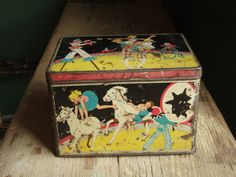 Vintage tin  Circus performers by alittlebitdusty on Etsy, $13.70