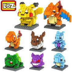 LOZ 8box Diamond Block Pokemon Pikachu Squirtle Bulbasaur Eevee Bulbasaur Charizard Gengar Mewtwo 1180pcs Parent-child Games Building Blocks Children's Educational Toys LOZ http://www.amazon.com/dp/B00P9NCIOE/ref=cm_sw_r_pi_dp_b0srwb12AWJ5C