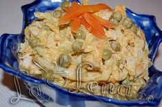 Cold Vegetable Salads, Potato Salad, Cabbage, Food And Drink, Chicken, Dinner, Vegetables, Cooking, Ethnic Recipes