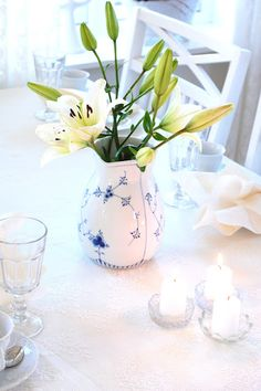 Flowers and candles always!