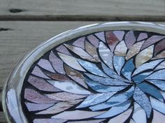 Stained Glass Mosaic Candle Plate Kitchen Spoon Rest Trivet