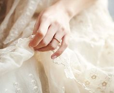 delicate lace and ring...