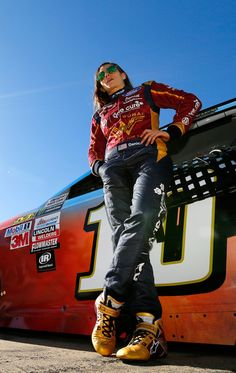 Danica Patrick Photos Photos - Danica Patrick, driver of the #10 Wonder Woman/One Cure Ford, wait in the pits during qualifying for the Monster Energy NASCAR Cup Series Go Bowling 400 at Kansas Speedway on May 12, 2017 in Kansas City, Kansas. - Kansas Speedway - Day 1
