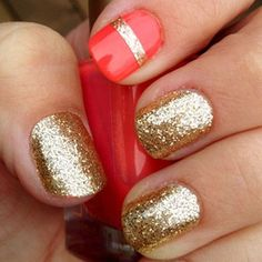 Gliteratti Party: 15 of the best sparkly mani's from the interwebs - dropdeadgorgeousdaily.com dropdeadgorgeousdaily.com