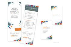 Flyer et cartes de visite. Client : Spaziodeco www : spaziodeco.com