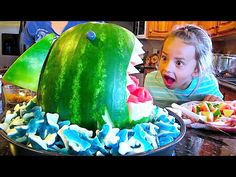 How to Make Jello Watermelon - Let's Cook with ModernMom - YouTube
