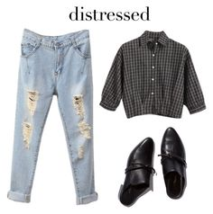 """""""Distressed Denim #3"""" by hideous ❤ liked on Polyvore featuring Chicnova Fashion, 3.1 Phillip Lim, contest and distresseddenim"""