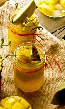 Mango-Pineapple non-alcoholic Sangria! Sensational and refreshing summer drink