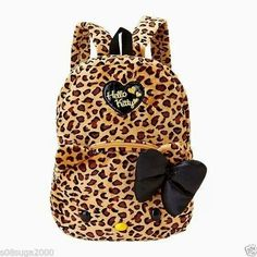Leopard hello kitty backpack